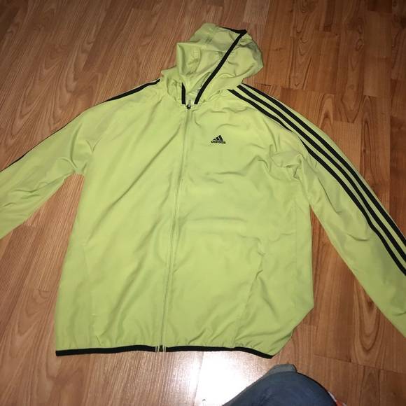 6159c2b2 Lime green Adidas Windbreaker , RARE
